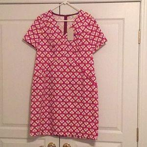 Boden dress NWT- short sleeve w/ pockets. Sz 14